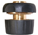 "LQ44SMR - 3/4"" Brass and rubber quick connector with waterstop"
