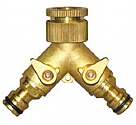 LQYM - 2-Way brass tap connector with valves with swivel