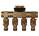 MTCMR - Brass Multi tap connector with rubber grip